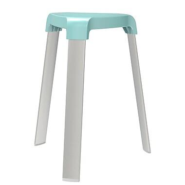 Smart – Siège à pieds, pieds en aluminium, bleu aqua