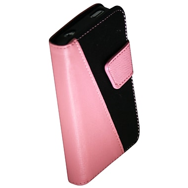 Exian 4G184 - Pink iPhone 4/4s Leather Wallet Case with Card Slots, Pink