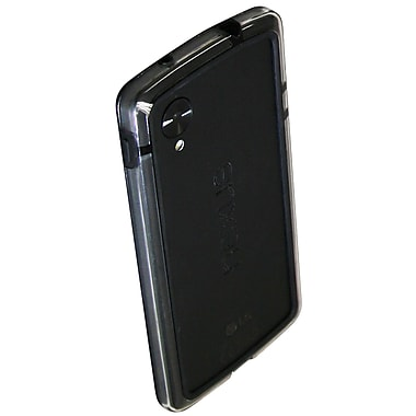 Exian Nexus 5 TPU Bumper Case with Transparent Sides, Black