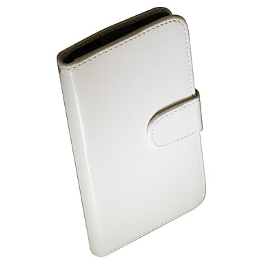 Exian Case for HTC One, Leather Wallet White