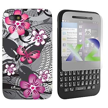 Exian Cases for Blackberry Q5, Floral Pattern