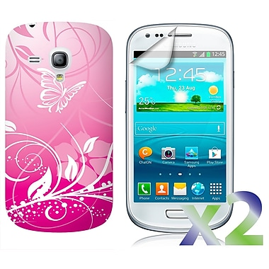 Exian Cases for Galaxy S3 Mini, Flowers & Butterflies