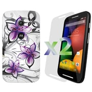 Exian Cases for Moto E, Floral Pattern