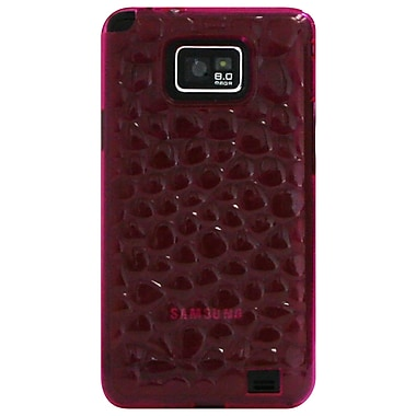 Exian Case for Galaxy S2, Silicon Transparent Bubble Pattern Pink