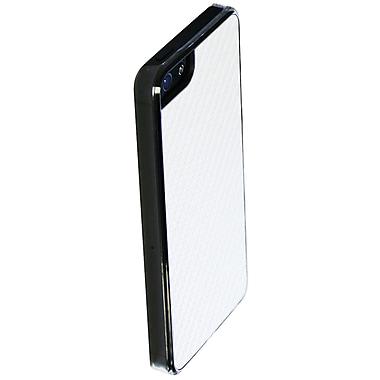 Exian – Étui en fibre de carbone pour iPhone 5/5s, blanc