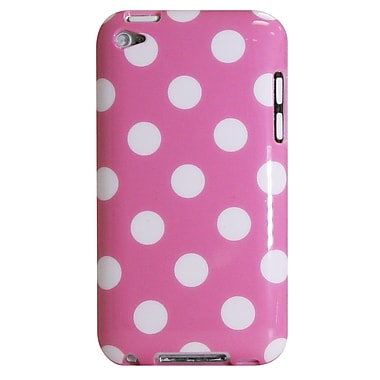 Exian iPod Touch 4 Case, Polka Dots Pink