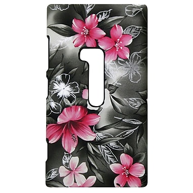 Exian Case for Lumia 920, Floral Pattern Black & Pink