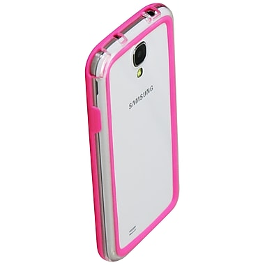 Exian Case for Galaxy S4, Bumper Pink