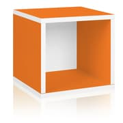 Way Basics Eco-Friendly Stackable Storage Cube Organizer, Orange - Lifetime Warranty