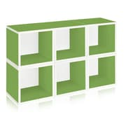 Way Basics zBoard Eco Friendly 6 Modular Storage Cubes, Green