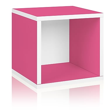 Way Basics zBoard Eco Friendly Modular Storage Cubes, Pink
