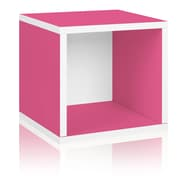 Way Basics Eco-Friendly Stackable Storage Cube Organizer, Pink - Lifetime Warranty