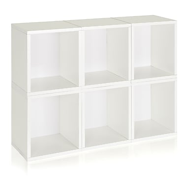 Way Basics Eco Stackable Modular Storage Cubes Plus (Set of 6), White