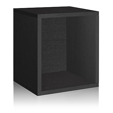 Way Basics Eco-Friendly Stackable Storage Cube Plus Organizer, Black - Lifetime Warranty