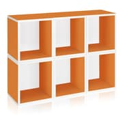 Way Basics Eco Stackable Modular Storage Cubes Plus (Set of 6), Orange