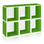 Way Basics Eco Stackable Modular Storage Cubes Plus (Set of 6), Green