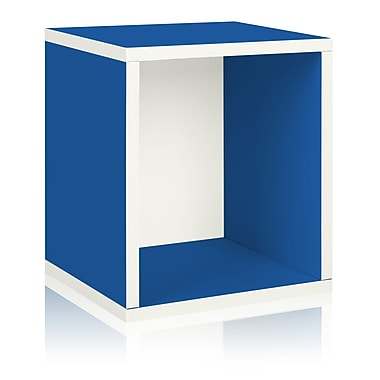 Way Basics Eco-Friendly Stackable Storage Cube Plus Organizer, Blue - Lifetime Warranty