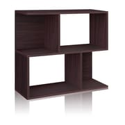Way Basics Eco-Friendly 2 Shelf Soho Bookcase, Side Table, Storage Shelf, Espresso - Lifetime Warranty