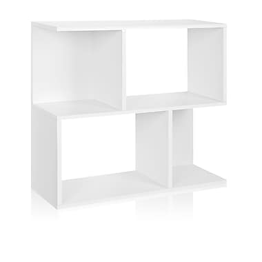 Way Basics Eco-Friendly 2 Shelf Soho Bookcase, Side Table, Storage Shelf, White - Lifetime Warranty