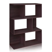 Way Basics Eco-Friendly 3 Shelf Madison Bookcase, Room Divider, Storage Shelf, Espresso Wood Grain - Lifetime Warranty