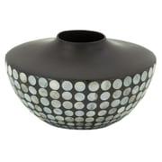 Woodland Imports Unique Ceramic Lacquer Inlay Vase
