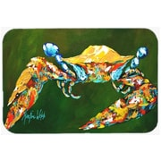Caroline's Treasures Go Green Crab Kitchen/Bath Mat; 24'' H x 36'' W x 0.25'' D