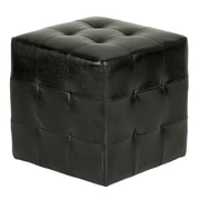 Cortesi Home Braque Leather Cube Ottoman