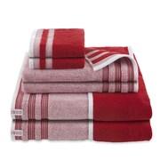 IZOD Oxford 6 Piece Towel Set; Pompei Red