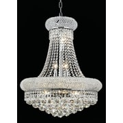 Elegant Lighting Primo 14 Light Chandelier with Crystal; 20'' / Chrome / Elegant Cut