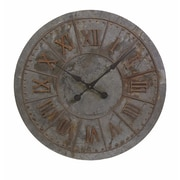 Woodland Imports Gilbert Oversized 32'' Age Looking Galvanized Clock