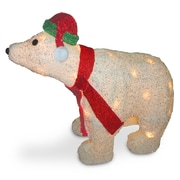 National Tree Co. Decorative D cor 3D Polar Bear Christmas Decoration