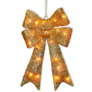 National Tree Co. Decorative D cor Sisal Bow Christmas Decoration; Gold