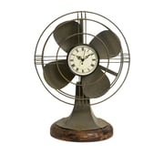 Woodland Imports Thatcher Vintage Fan Clock