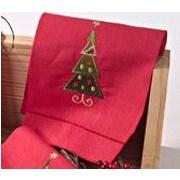Saro Christmas Tree Bath Towel (Set of 4)