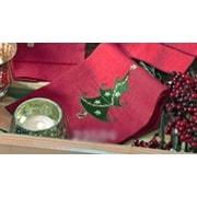 Saro Christmas Tree Design Hemstitched Bath Towel (Set of 4)