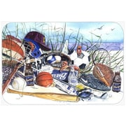 Caroline's Treasures Sports on The Beach Kitchen/Bath Mat; 20'' H x 30'' W x 0.25'' D