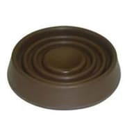 Mintcraft FE,S708 Brown Round Rubber Caster Cup, 1.5 In.