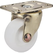 MINTCRAFT 1.25in White and Brass Plate Caster (ORGL38828)