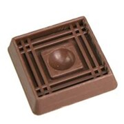 MINTCRAFT 1.62in Rubber Caster Cup, Brown (ORGL36088)