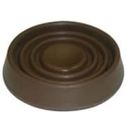 MintCraft Brown Round Rubber Caster Cup, 1.75in (ORGL36087)