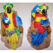 Goldfarb-Fisher Novelty Parrots on Resin Chair, 4 Pack (RNRDST3336)