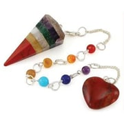 AzureGreen GP7MUL Multi Layer 7 Chakra Gemstone Pendulum