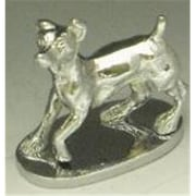 Mayer Mill Brass Jack Russel Hood Ornament, Chrome (MYRM188)