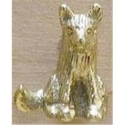 Mayer Mill Brass Sitting Fox Drawer Pull, Brass (MYRMB641)