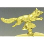 Mayer Mill Brass Running Fox Lamp Finial (MYRMB130)