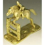 Mayer Mill Brass Jumping Horse And Fence Book Ends, Pair (MYRMB596)