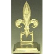 Mayer Mill Brass Fleur de Lis Book Ends, Pair (MYRMB473)