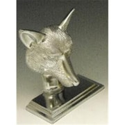 Mayer Mill Brass Fox Book Ends, Chrome, Pair (MYRMB595)