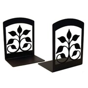 "Village Wrought Iron Book Ends, Leaf Fan, 5"" W x 6-1/4 H"" x 3-1/2"" D (VW011)"