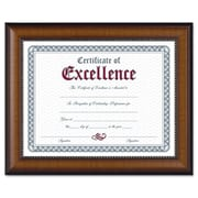 "DAX Prestige 8 1/2"" x 11"" Document/Certificate Frame, Walnut/Black with Gold Accents (AZDAXN3028N1T)"